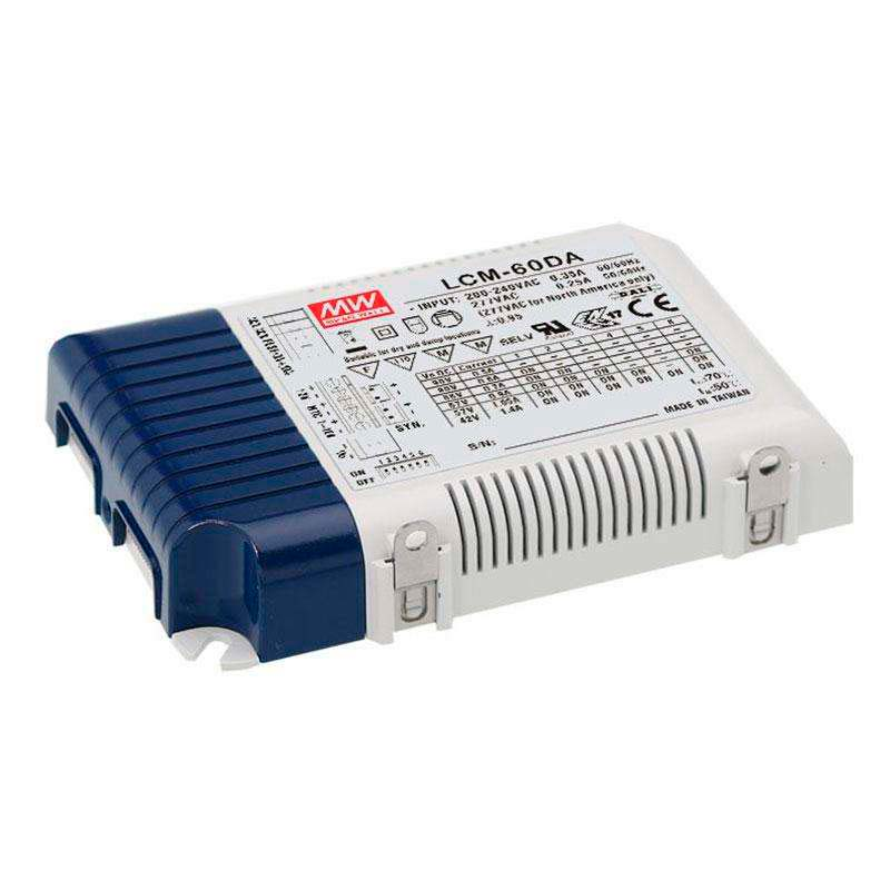 DALI Driver MEAN WELL Ajustable LCM-60DA, Regulable